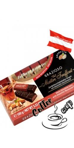Шоколад Maître Truffout Grazioso Amaretto черный 100g