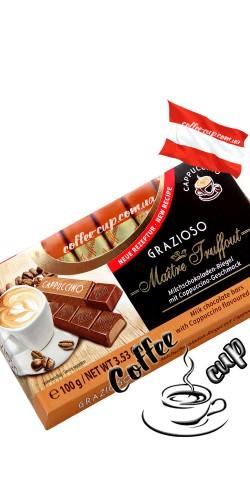 Шоколад Maître Truffout Grazioso Cappuccino молочный 100g