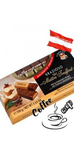 Шоколад Maître Truffout Grazioso Tiramisu молочный 100g