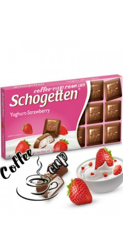 Шоколад Schogetten Yoghurt-Strawberry 100g