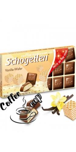 Шоколад Schogetten Vanille-Waffel 100g
