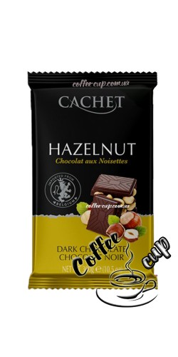 Шоколад Cachet Dark Chocolate with Hazelnut 300g
