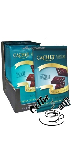 Шоколад Cachet 70% Extra Dark Chocolate Bars 300g