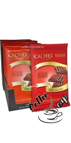 Шоколад Cachet 32% Milk Chocolate Bars 300g