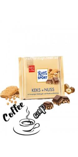 Шоколад Ritter Sport Keks + Nuss 100g