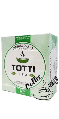 "Чай TОТТІ Теа Emerald Leaf ""Изумрудный Лист"" зеленый 100пак"