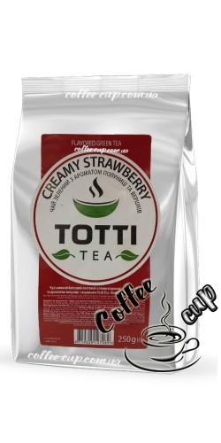 "Чай Totti Tea Creamy strawberry  ""Сливочная клубника"" зеленый 250g"