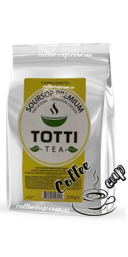 """Чай Totti Tea Soursop Premium """"Саусеп премиум"""" зеленый 250g"""