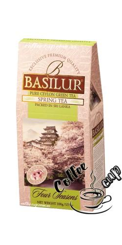Чай Basilur Spring tea с вишней зеленый 100g